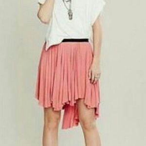 Free people asymmetrical pink/coral skirt